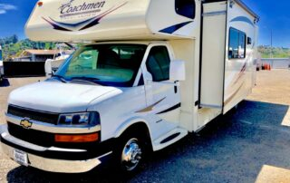 RV with slide out panel